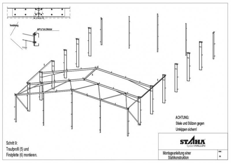 Hallenbau Bausatz